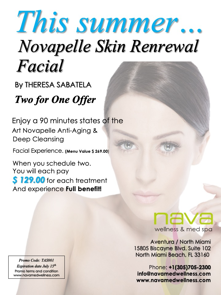 In house Monthly Facial Promo Summer